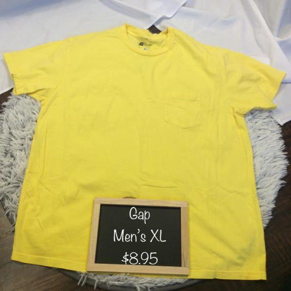 Gap Mens XL Yellow Shirt